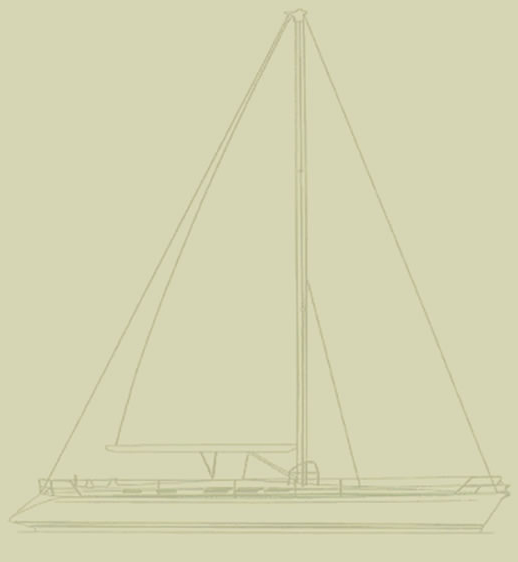 Yacht Ibis Dufour 48 Prestige Line Drawing